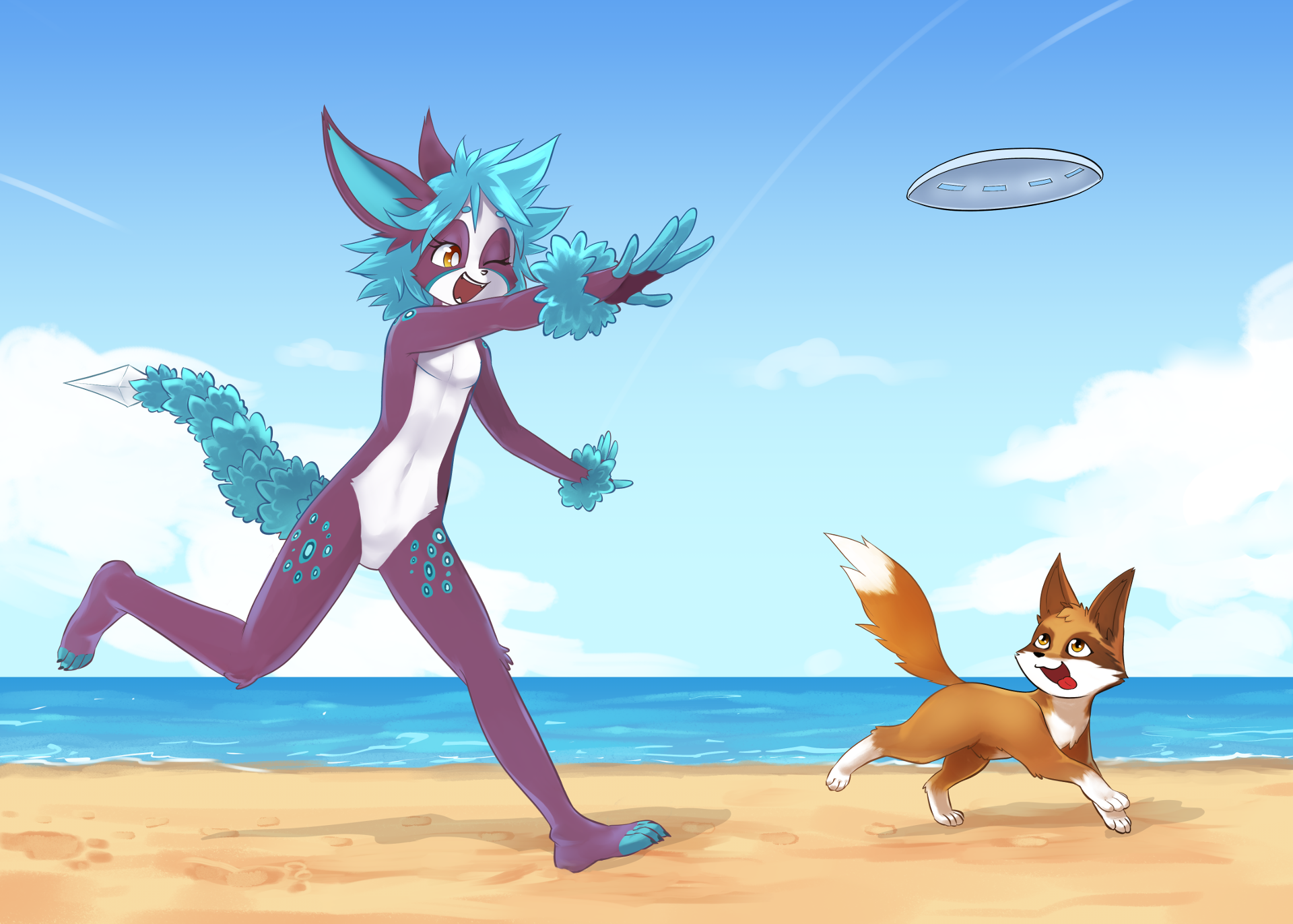 Pooka and Waff at the Beach 3